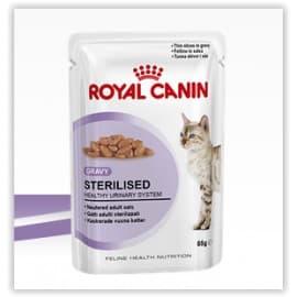 Пресервы ROYAL CANIN СТЕРИЛАЙЗД кусочки в соусе для взрослых кошек после кастрации,стерилизации (0,085 кг.)