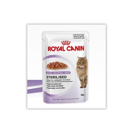 Пресервы ROYAL CANIN СТЕРИЛАЙЗД в Желе кусочки для взрослых кошек после кастрации,стерилизации (0,085 кг.)