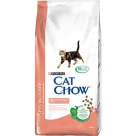 Cat Chow Корм сухой полнорац. для взрослых кошек с чувств. пищев. Системой для здоровья кожи и шерсти (1,5 кг.)