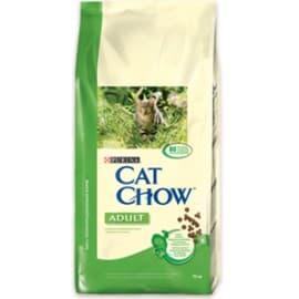 Cat Chow Корм сухой полнорационный для взрослых кошек с кроликом и добавление печени (15 кг.)