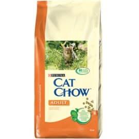 Cat Chow Корм сухой полнорационный для взрослых кошек с курицей и индейкой (15 кг.)