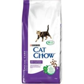 Cat Chow Корм сухой полнорационный для взрослых кошек для контроля образования комков шерсти (15 кг.)