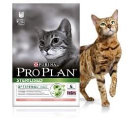Pro Plan Корм сухой полнорацион. для взрослых стерилизованных кошек и кастрированных котов с лососем (0,4 кг.)