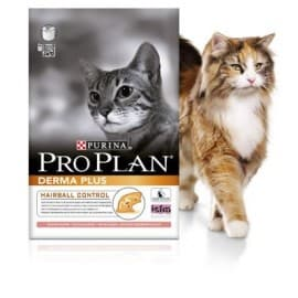Pro Plan Корм сухой полнорацион. для взрослых кошек с чувствительной кожей с лососем (0,4 кг.)