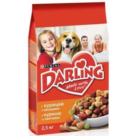 DARLING сухой с курицей и овощами для взрослых собак (3 кг.)