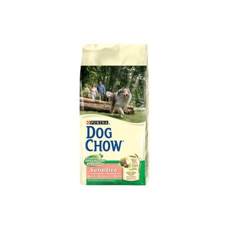 Dog Chow корм сухой полнорационный для взрослых собак с чувств. кожей и чувств. пищеварен.,с лососем (2,5 кг.)
