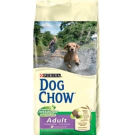 Dog Chow Корм сухой полнорационный для взрослых собак, с ягненком (14 кг.)