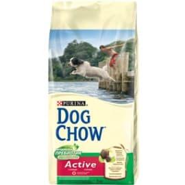 Dog Chow Корм сухой полнорационный, для взрослых активных собак, с курицей (14 кг.)