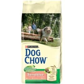 Dog Chow Корм сухой полнорац., для взрослых собак c чувств. кожей и чувств. пищеварен., с лососем (14 кг.)