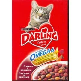 Darling Корм сухой полнорационный для взрослых кошек с мясом по-домашнему и овощами (0,3 кг)