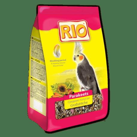 Зерновые корма для птиц RIO 500г для средних попугаев, линька Артикул BF010