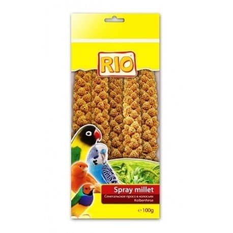 Зерновые корма для птиц RIO Синегальское просо в колосьях (5:7шт). Лакомство для птиц. BF027