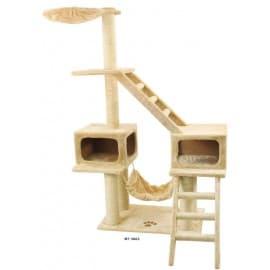 Когтеточка и дом для кошек Triol 3062NT Комплекс 80х61х166см