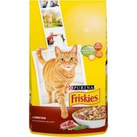 Friskies Корм сухой полнорационный для взрослых кошек с мясом и полезными овощами (10 кг.)