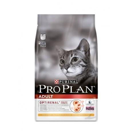Pro Plan Корм сухой полнорацион. для взрослых кошек с чувствительной кожей с лососем (7,5 кг.)