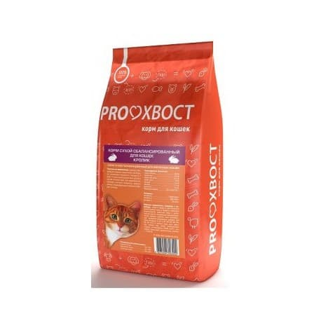 Сухой Корм для кошек PRO-хвост 10кг Кроликс