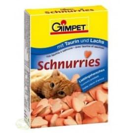 Витамины GIMPET, 650шт. для кошек (витаминизированные сердечки с таурином и лососем с ТГОС)