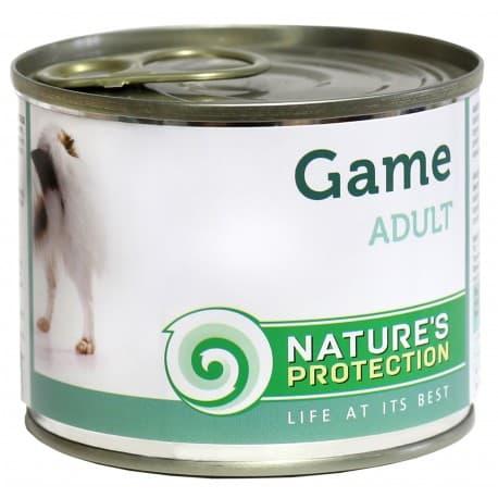 NATURE'S PROTECTION dog adult game 200g полноценный корм для взрослых собак c дичью Артикул KIK45092