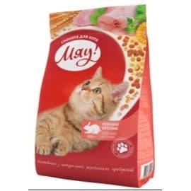 Мяу! Сухой корм для кошек 11кг нежный кролик
