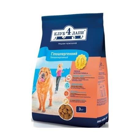 КЛУБ 4 ЛАПЫ Сухой корм для собак 14кг сухой корм для собак (гипоалергенный ) с ягнёнком и рисом