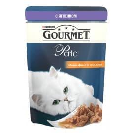 GOURMET PERLE корм консервы полнорационные с ягненком в подливке для взрослых кошек (0,085 кг.)