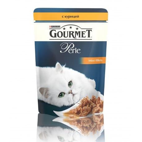 GOURMET PERLE консервы с курицей в подливке (0,085 кг.)