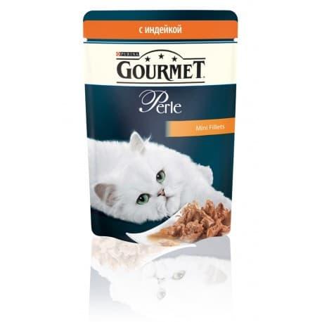 GOURMET PERLE консервы с индейкой в подливке (0,085 кг.)