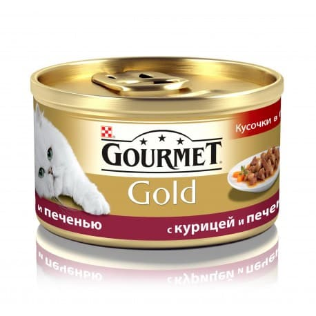 GOURMET GOLD консервы с курицей и печенью (0,085 кг.)