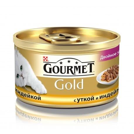 GOURMET GOLD консервы кусочки в подливке с уткой и индейкой (0,085 кг.)