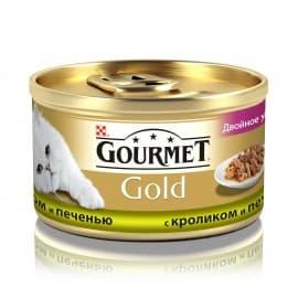 GOURMET GOLD консервы кусочки в подливке с кроликом и печенью (0,085 кг.)