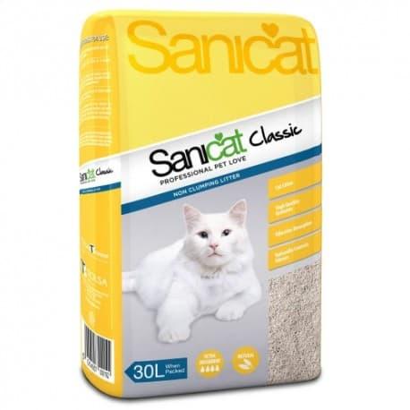 Наполнители для кошек и котов Sanicat 30л CLASSIC впитывающий из сепиолита Артикул SCI039