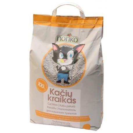 NORIKO, 10kg комкующийся наполнитель для кошачьего туалета с ароматом фруктов (бентонит). Чехия