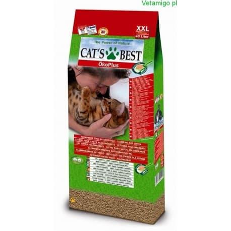 Cats best okoplus 40 л комкующийся натуральный наполнитель для кошачьего туалета из опилок