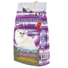Наполнители для кошек Pussy Cat Туф комкующийся 4,5 л.