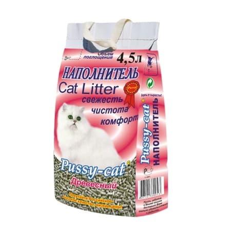 Наполнители для кошек Pussy Cat Туф комкующийся розовый 4,5 л.