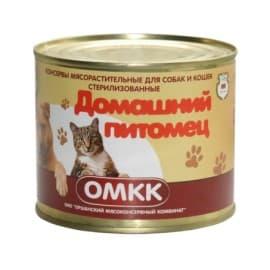 Консервы Домашний питомец мясорастительные для собак и кошек стерилизованные 525 гр Оршанский МКК