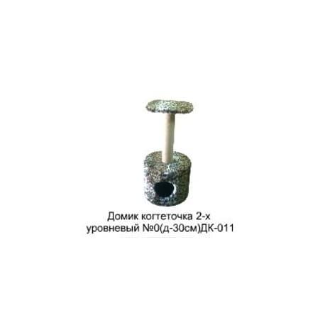 Домик когтеточка для кошек 2-х уровневый (д-30см) ДК-011 Размер 30х30х60см