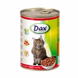 Консервы для кошек Dax кусочки с говядиной, 415 гр