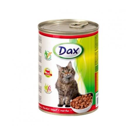 Консервы для кошек Dax кусочки с говядиной