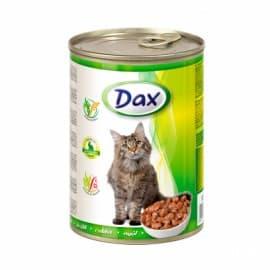 Консервы для кошек Dax кусочки с кроликом, 415 гр
