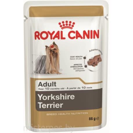 Влажный корм ROYAL CANIN YORKSHIRE TERRIER - паштет для Йоркширских терьеров с 10 месяцев 0,09 кг