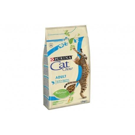 Cat Chow. Корм сух полнорац для взр кошек, с уткой