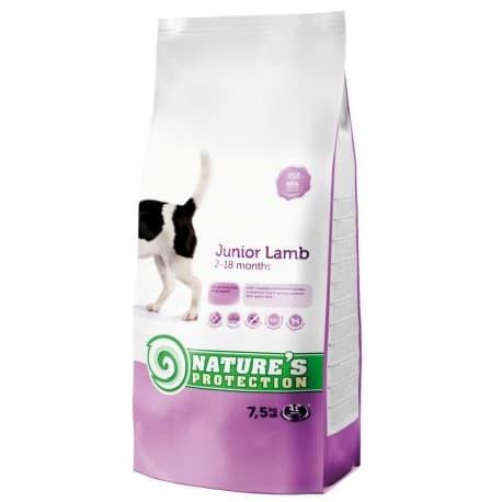 Nature's Protection Junior Lamb - сухой корм для молодых собак всех пород с мясом ягненка 7,5 кг
