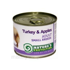 Nature's Protection Dog Adult Small Breeds Turkey & Apples - консервы для собак с индейкой и яблоками 200 г