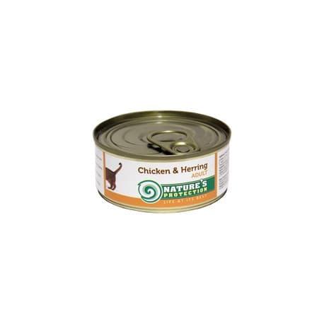 NP Cat Chicken & Herring - консервы для кошек с курицей и сельдью 100 г