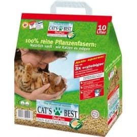 CAT'S BEST ÖkoPlus 12 L (Древесный комкующийся, гранулы , суперпоглощение влаги) - для кошек АКЦИЯ: 10 л + 2 л БЕСПЛАТНО
