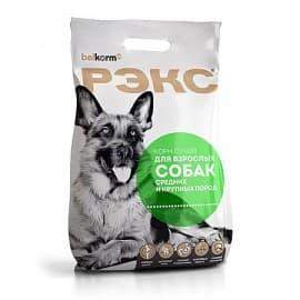 Рэкс корм сухой для взрослых собак средних и крупных пород, 10 кг