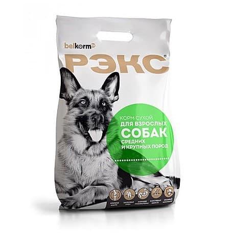 Рэкс корм сухой для взрослых собак средних и крупных пород, 15 кг