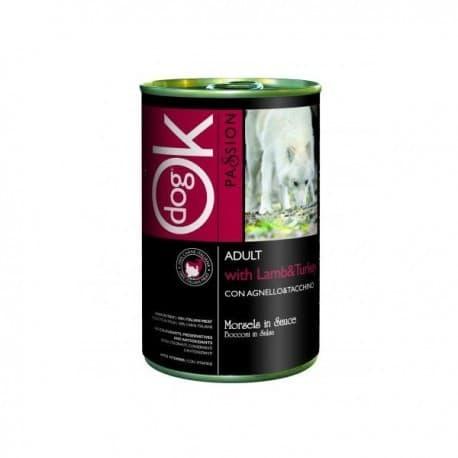 OK Passion консервы для собак Ягненок с индейкой 1250 гр