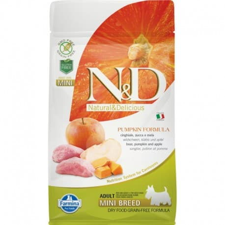 N&D DOG GF PUMPKIN BOAR & APPLE ADULT MINI 0,8 кг